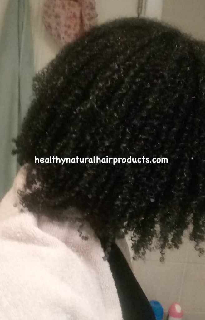 wash and go results on natural hair