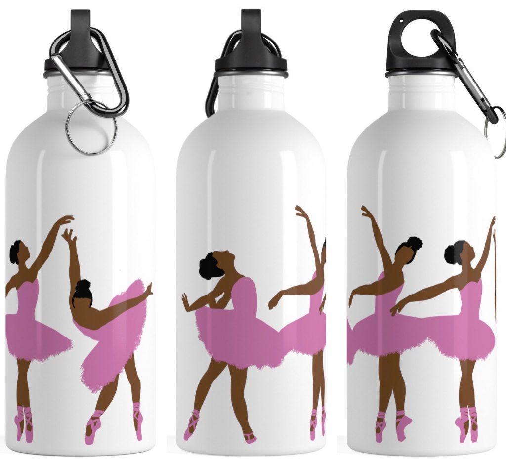 curly hair gift set, Black Girl Magic Ballerina Water Bottle