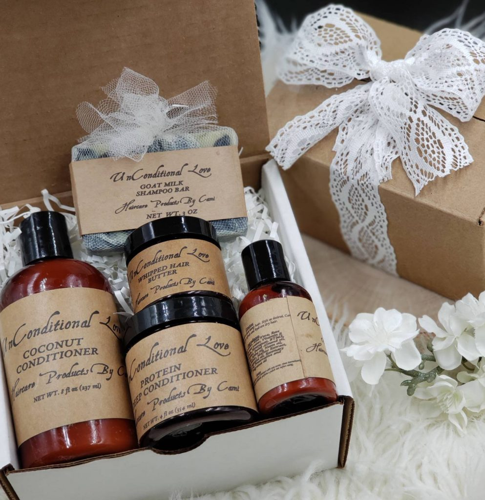 natural hair christmas gifts, Unconditional Love Natural Hair Care Gift Set