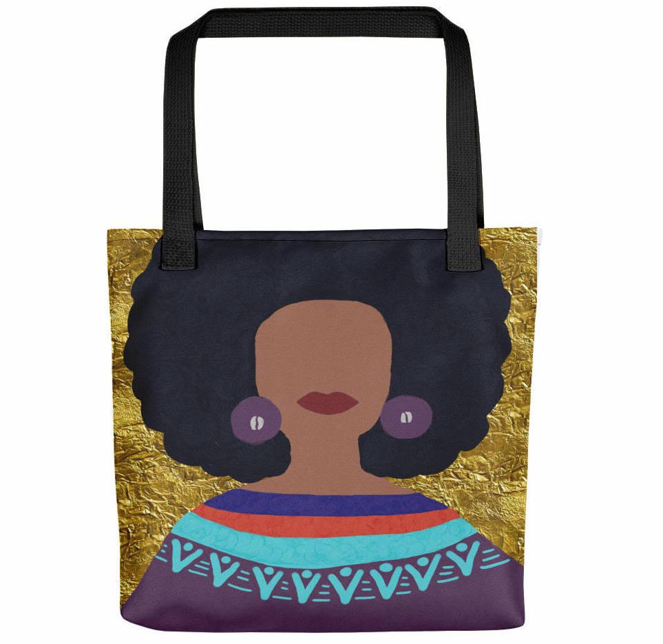 natural hair gifts, Afro Tote Bag,