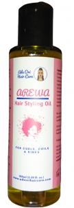 Arewa Hair Styling Oil. Defined and Moisturized Hair Styles. Best Sealing Oil for Dry Hair. Soft, Shiny and Longer Lasting Hair Styles.