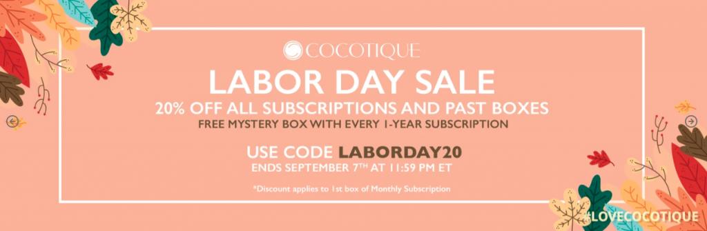 Cocotique labour day sale