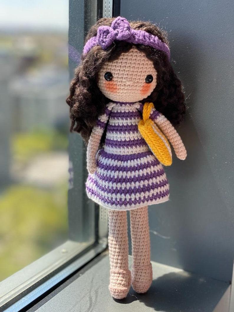 Miniature Tennis Player Crotchet Doll