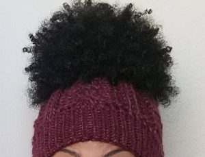 Satin Lined Beanie Cap Winter Hat for Natural Hair