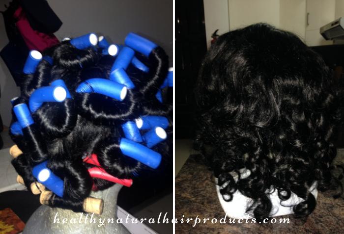 Flexi Rod Set on Human Hair Wig